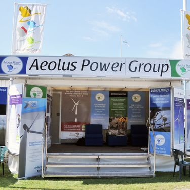 Aeolus Power Group exhibit using a Mobex Exhibition Trailer