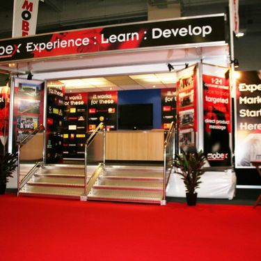 Bespoke exhibition trailer stand design and build by Mobex