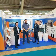 Feedwater stand build by Mobex at the Pig & Poultry Show 2018