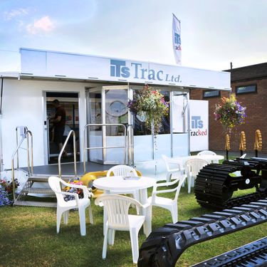 ITS Trac exhibiting using a Mobex Trailer