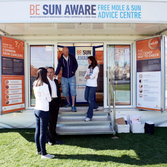Sun Awareness Engagemnt Campaign with Mobex Trailer & Gazebo